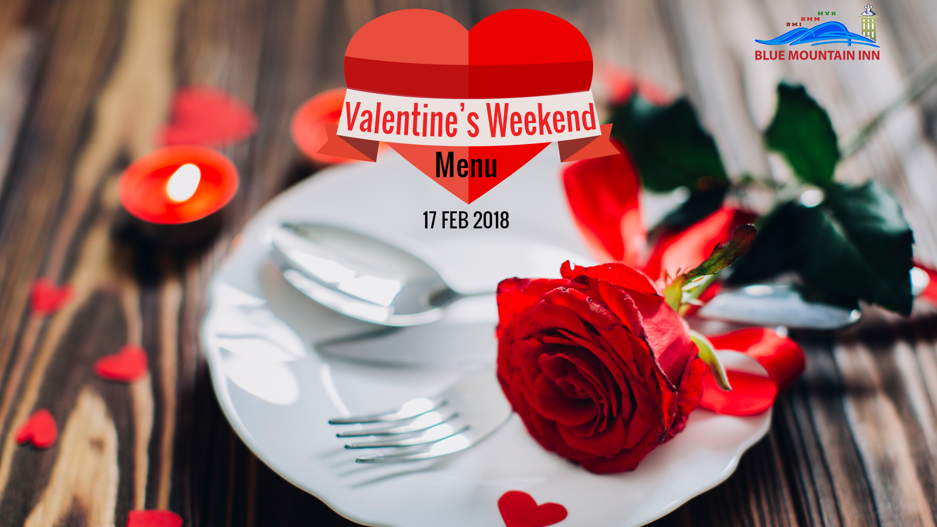 Valentine's weekend dinner menu
